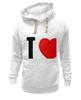 "Толстовка Wearcraft Premium унисекс ""I LOVE HER"" - сердце, любовь, heart, i love"