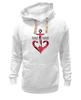 """Толстовка Wearcraft Premium унисекс """"Красный якорь"""" - море, якорь, anchor, sailor"""
