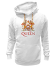 "Толстовка Wearcraft Premium унисекс ""Queen group"" - queen, фредди меркьюри, freddie mercury, куин, rock music"