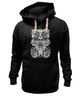 "Толстовка Wearcraft Premium унисекс ""Tribal"" - skull, череп, tribal, black n white"