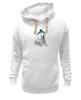 """Толстовка Wearcraft Premium унисекс """"Белый медведь"""" - polar bear, белый медведь"""