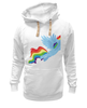 "Толстовка Wearcraft Premium унисекс ""Born to be cooler"" - rainbow dash, my little pony, friendship is magic, cooler, 20 percent cooler"