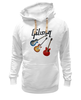 "Толстовка Wearcraft Premium унисекс ""Gibson"" - гитара, рок, gibson, гибсон"