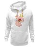"""Толстовка Wearcraft Premium унисекс """"Ангел с цветком"""" - любовь, крылья, цветок, ангел, нимб"""