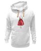 "Толстовка Wearcraft Premium унисекс ""Red skirt, red lips"" - красный, мода, fashion, красная юбка"