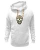 "Толстовка Wearcraft Premium унисекс ""Череп"" - skull, череп, узор, паттерн, символ, дудл"