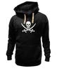 """Толстовка Wearcraft Premium унисекс """"Веселый Роджер."""" - череп, jolly roger, пират, веселый роджер, pirates, пираты карибского моря, пиратский флаг"""