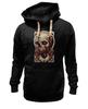 "Толстовка Wearcraft Premium унисекс ""Art Horror"" - skull, череп, blood, evil, зло"