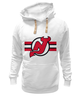 "Толстовка Wearcraft Premium унисекс ""New Jersey Devils"" - хоккей, nhl, нхл, нью-джерси девилс, new jersey devils"