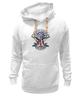 "Толстовка Wearcraft Premium унисекс ""Skull Art"" - skull, череп, usa, американский флаг, american flag"