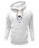 """Толстовка Wearcraft Premium унисекс """"The cat in the hat"""" - кот, арт, белый, черный, шляпа"""