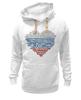 """Толстовка Wearcraft Premium унисекс """"Кратко 1 глава Конституции РФ (триколор)"""" - сердце, россия, патриотические, конституция, триколор"""