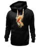 """Толстовка Wearcraft Premium унисекс """"Феникс"""" - огонь, абстракция, феникс, phoenix"""