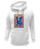 """Толстовка Wearcraft Premium унисекс """"Синий Пес"""" - любовь, сердца, собака, синий пес, blue dog"""