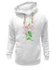 """Толстовка Wearcraft Premium унисекс """"Цветы душистый горошек"""" - арт, цветы, весна, акварель, spring, горошек"""