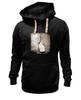 """Толстовка Wearcraft Premium унисекс """"kitten"""" - кот, черное, cat, черно-белое, сепия"""