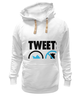 "Толстовка Wearcraft Premium унисекс ""Tweets Not War"" - fun, social"