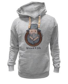 """Толстовка Wearcraft Premium унисекс """"wizard for life"""" - adventure time, время приключений, волшебник, маг, чародей"""