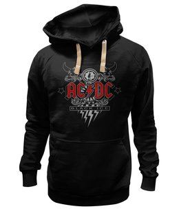 """Толстовка Wearcraft Premium унисекс """"AC/DC. Black Ice"""" - рок, ac dc, группы, acdc, black ice"""