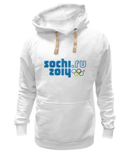 "Толстовка Wearcraft Premium унисекс ""SOCHI 2014 толстовка"" - мужская, москва, кольцо, белая, 2014, толстовка, сочи, символ, sochi, olympics"
