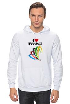"""Толстовка Wearcraft Premium унисекс """"Я люблю футбол """" - спорт, футбольный мяч"""