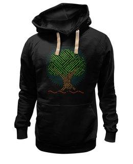 """Толстовка Wearcraft Premium унисекс """"Экологический лозунг о деревьях 2 сторонний"""" - надписи, деревья, россия, природа, слова"""
