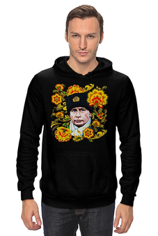 "Толстовка ""Путин – Хохлома"" - любовь, москва, владимир, россия, патриотизм, политика, путин, президент, putin, общество"