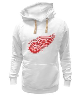 "Толстовка Wearcraft Premium унисекс ""Red Wings"" - хоккей, hockey, nhl, detroit, нхл, детройт, ред уингз"