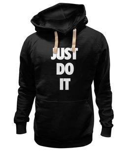 """Толстовка Wearcraft Premium унисекс """"Just do it (просто сделай это)"""" - цитаты, just do it"""