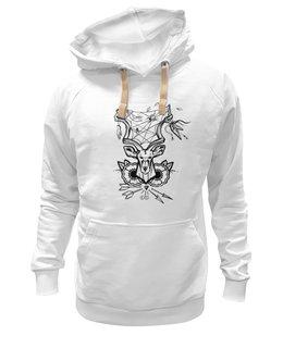"""Толстовка Wearcraft Premium унисекс """"Koodоо"""" - олень, deer, tm kiseleva, большой куду, лесной страж"""