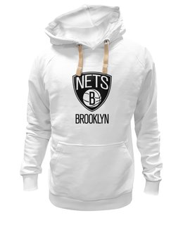 "Толстовка Wearcraft Premium унисекс ""Brooklyn Nets"" - баскетбол, basketball, nba, спортивная, нба, brooklyn, nets"