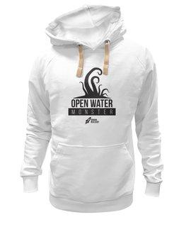 "Толстовка Wearcraft Premium унисекс ""Open Water Monster"" - осьминог, тигры, плавание, swimrocket, swimtigers"