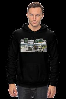 """Толстовка Wearcraft Premium унисекс """"Американский хайвей"""" - сша, путешествия, шоссе, дороги, хайвеи"""