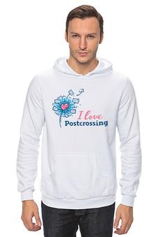 """Толстовка Wearcraft Premium унисекс """"I love Postcrossing"""" - i love, postcrossing, посткроссинг, почтовые открытки"""