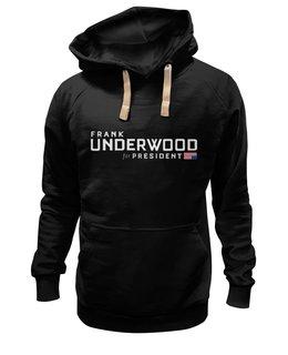 """Толстовка Wearcraft Premium унисекс """"Frank Underwood"""" - underwood, house of cards, карточный домик, frank underwood"""