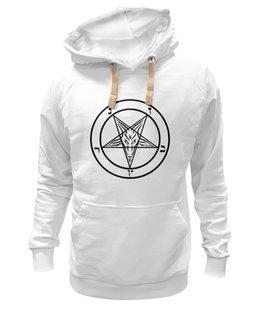 """Толстовка Wearcraft Premium унисекс """"Печать Бафомета #1"""" - дьявол, демон, сатана, посотоне"""