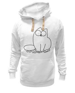 "Толстовка Wearcraft Premium унисекс ""Simon's Cat #1"" - кот, cat, simons cat, кот саймона, simons, саймона, sim1"