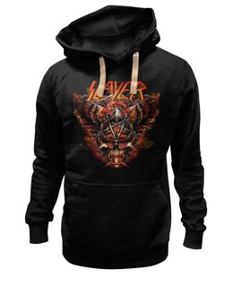 "Толстовка Wearcraft Premium унисекс ""Slayer"" - рок и метал, slayer"