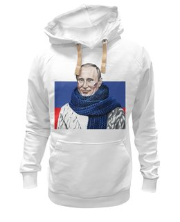 "Толстовка Wearcraft Premium унисекс ""Путин"" - политика, путин, владимир владимирович"