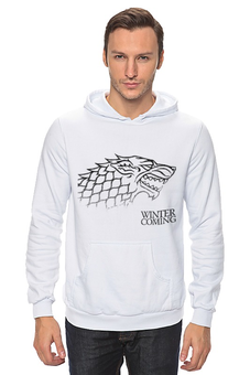 "Толстовка Wearcraft Premium унисекс ""winter is coming"" - игра престолов, winter is coming, game of thrones, stark"