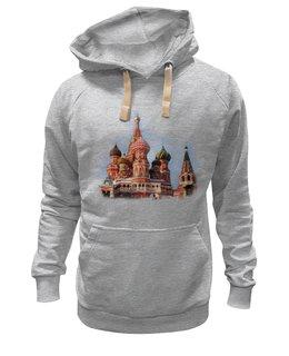 """Толстовка Wearcraft Premium унисекс """"Moscow"""" - арт, москва, страны, города, россия"""