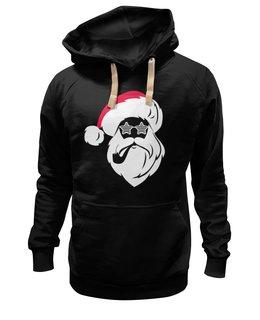 """Толстовка Wearcraft Premium унисекс """"Дед Мороз с трубкой"""" - новый год, рождество, дед мороз, санта клаус, santa claus"""