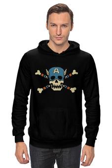 """Толстовка """"Капитан Америка"""" - скелет, captain america, первый мститель, противостояние, the first avenger"""