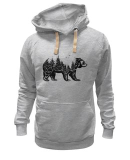"""Толстовка Wearcraft Premium унисекс """"Русский медведь"""" - медведь, страна, лес, россия, сила"""