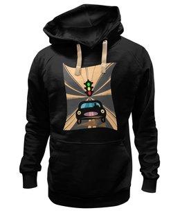 """Толстовка Wearcraft Premium унисекс """"Светофор."""" - автомобиль, дорога, светофор"""