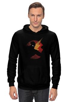 "Толстовка Wearcraft Premium унисекс ""flash"" - flash, молния, флэш, dc комикс"