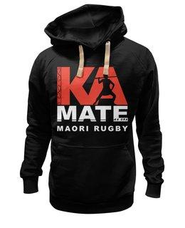 "Толстовка Wearcraft Premium унисекс ""Maori Rugby"" - all blacks, регби"