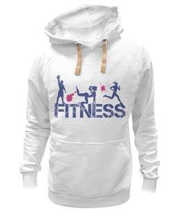 """Толстовка Wearcraft Premium унисекс """"Фитнес"""" - бег, спорт, фитнес, тренировка, кроссфит"""