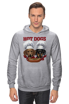 "Толстовка Wearcraft Premium унисекс ""Wiener Cooks"" - такса, повар, cook, dachshund, hot dog"