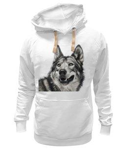 """Толстовка Wearcraft Premium унисекс """"Добродушный волк"""" - хищник, animal, волк, wolf"""